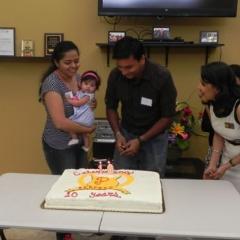 Shivani requesting Vihana to cut the Perfect's 10th anni cake