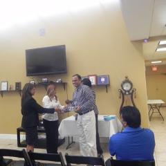 Jamal winning the raffle draw gift