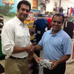 Ashish with Nadir Ali