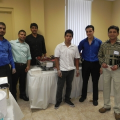 Ashirwad Restaurant team with Mukesh